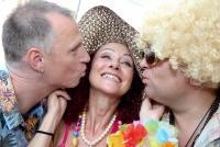 04.08.2014 |  Martini Terrazza/Wiener Rathausplatz |  die Sause geht weiter<br>Im Bild:<br> Alex List, Christina Lugner, Dietmar Schwingenschrot