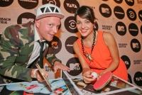 28.08.2014 |  Palais Auersperg |  TV-Sender VIVA Austria, Nickelodeon Austria und COMEDY CENTRAL<br>Im Bild:<br> Markus Floth u. Jenny Posch -VIVA Austria
