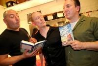18.09.2014 |  WERK X – Eldorado |  Buchpräsentation / Residenz Verlag  <br>Im Bild:<br> Rudi Roubinek, Klaus Oppitz,  Robert Palfrader -Backstage