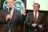 16.03.2015 |  Summerstage |  Flimmit österreichische Video on Demand präsentiert neuen Partner ORF-Enterprise<br>im Bild:<br> Richard Grasl –Kaufm. Direktor d. ORF, Alexander Wrabetz - ORF-Generaldirektor,