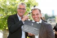 25.06.2015 |  Motto am Fluss |  Jubiläums VIP-Filmparty | PR Robin Consult<br>im Bild:<br> Wolfram Pirchner, Alexander Strohmer -WEST4MEDIA