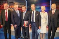 21.04.2016 |   ORF Zentrum |  Kandidaten zur Bundespräsidentschaftswahl 2016 in Österreich<br>im Bild:<br> Rudolf Hundstorfer –SPÖ, Andreas Khol –ÖVP, Norbert Hofer -FPÖ, Alexander Van der Bellen, Irmgard Griss, Richard Lugner -im Studio