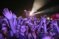 24.-26.06.2016 |  Donauinsel – Neue Donau |  33. Donauinselfest, Musik Festival<br>im Bild:<br> So, 26.6: Ö3 Festbühne, Publikum, Abend-Stimmung