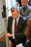 15.10.2017 |  Wiener Hofburg | Nationalratswahl 2017 in Österreich<br>im Bild:<br>Norbert Hofer -FPÖ