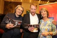 24.05.2018 |  Wiener Staatsoper | Album-Präsentation im Mahler Saal<br>im Bild:<br>Gerold Huber, Günther Groissböck, Barbara Rett, -mit neuer CD,