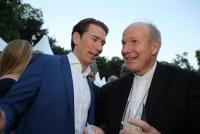 20.06.2018 |  Palais Schönburg |  Politik und Gesellschaft<br>im Bild:<br> BK Sebastian Kurz, Erzbischof Christoph Schönborn,