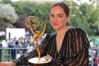 13.06.2019 |  Palais Schönburg |  Film-Hauptstadt Wien feiert International Emmy Awards -Jury<br>im Bild:<br> Verena Altenberger, -mit d Award,