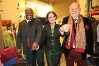 03.04.2014 |  Studio 44 |  Charity-Event<br>im Bild:<br> Biko Botowamungu, Ministerin Johanna Mikl-Leitner, Manfred Ainedter