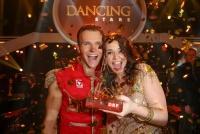 16.05.2014 |  ORF Zentrum |  ORF, TV-Show<br>Im Bild:<br> Roxanne Rapp – Vadim Garbuzov -Promi und Profi  -Gewinner, Dancingstars 2014