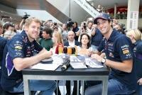 18.06.2014 |  WIEN MITTE The Mall |  veranstaltet von Rauch u. Wien Mitte-The Mall | PR Robin Consult              <br>Im Bild:<br> Daniel Ricciardo, Sebastian Vettel