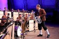 28.07.2014 |  SEEBÜHNE MÖRBISCH |  Österreichs größtes Blasmusikfestival / Produktion v. Show Factory<br>Im Bild:<br> ERNST HUTTER & DIE EGERLÄNDER MUSIKANTEN -auf der Bühne, live
