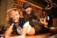 02.10.2014 |  Getreidemarkt 11 |  VIP u. Presse Opening<br>Im Bild:<br> Roman Gregory, Wendy Night