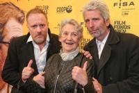 07.04.2015 |  Gartenbau Kino |  Wien-Premiere v. filmladen <br>im Bild:<br> Dirk Stermann, Ingrid Burkhard, Christoph Grisseman