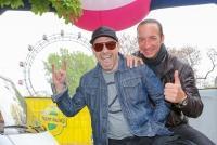 01.05.2015 |  Kaiserwiese/Wiener Prater |  organisiert v. SPÖ Wien, Wiener Bezirksblatt u. Planet Music<br>im Bild:<br> Roman Gregory - ALKBOTTLE, MICHAEL SEIDA -Backstage