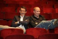 16.10.2018 |  Rabenhof Theater |  Die Polit-Satire im Gemeindebautheater<br>im Bild:<br> Michael Nikbakhsh, Klaus Oppitz, die Akteure