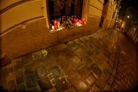 03.11.2020 |  Innere Stadt |  Spuren des Anschlag in Wien<br>im Bild:<br> Einschussloch, Trauer Bekundung, Tatort Spuren, Ermordung eines Opfer, Seitenstettengasse,