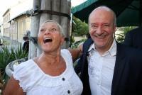 28.06.2021 |  Marchfelderhof/Deutsch-Wagram |  BIRGIT SARATA feiert Geburtstag!<br>im Bild:<br> Jazz Gitti, Andy Lee Lang,